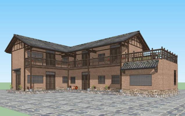 川渝民居SU模型
