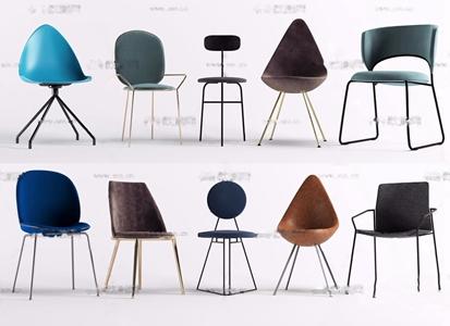 现代简约单椅3d模型
