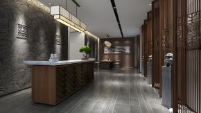 新中式老人中心会所3D模型