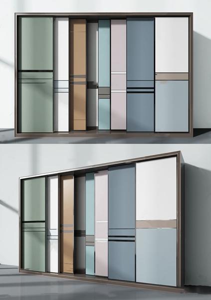 现代衣柜推拉门3d模型