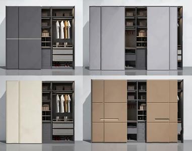 现代轻奢意式衣柜组合 现代衣柜 极简衣帽间 衣柜组合