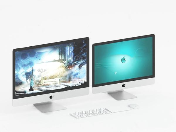 现代苹果电脑显示器3d模型