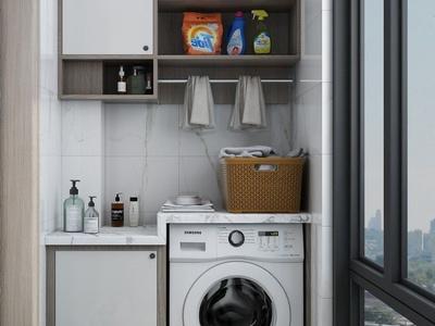 现代流行现代洗衣阳台国外3D模型下载