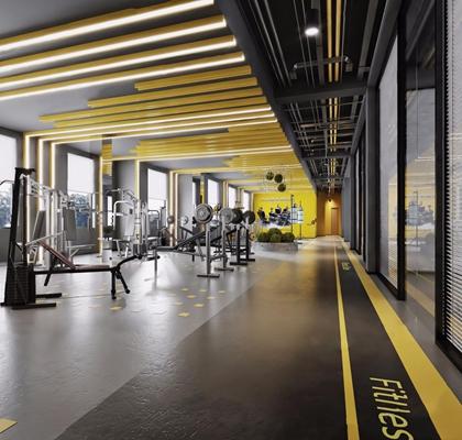 健身房大厅 健身房 大厅 健身器材