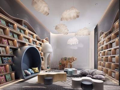 现代流行北欧售楼处儿童区国外3D模型下载