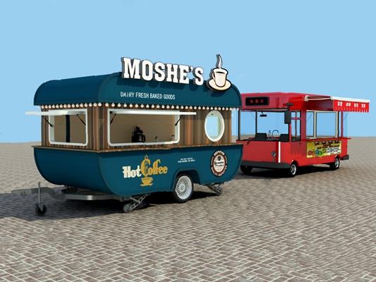 现代快餐车3D模型