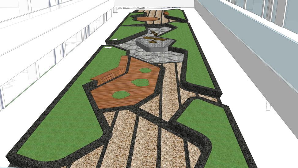 中庭景观SU模型
