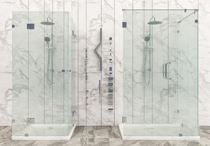 现代淋浴房花洒五金组合 现代淋浴房/淋浴构件 淋浴构件 隔断 花洒 五金