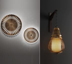 中式木质壁灯3D模型