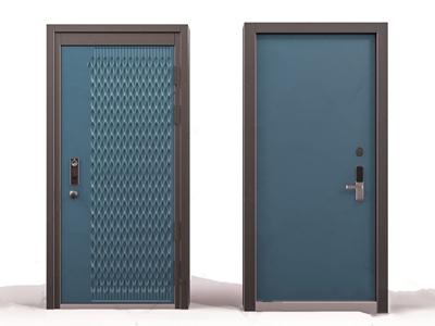 现代防盗门 现代门 现代防盗门 指纹锁