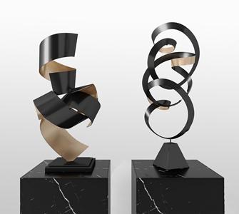 现代装饰摆件 现代雕塑 摆件 装饰品