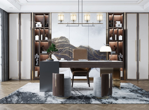 新中式書房3d模型