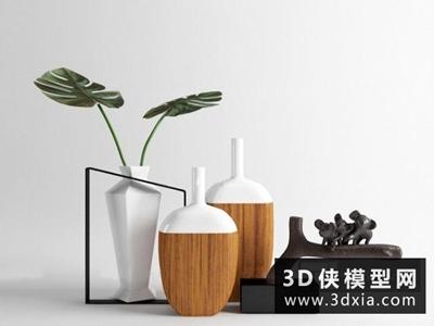 现代中式装饰品组合
