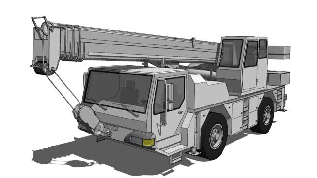 移动鹤 机械 起重机 垃圾车 吉普车 半履带