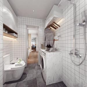 北欧卫生间 北欧卫浴 马桶 洗衣机 橱柜 淋浴头 花洒