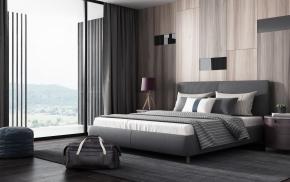 现代高级灰卧室3D模型