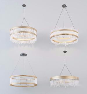 现代时尚水晶吊灯3d模型