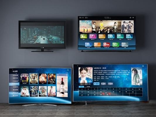 现代电视机3D模型