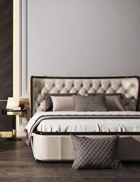 现代双人床沙发组合