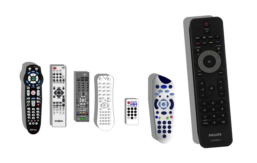 电视遥控器组合SU模型
