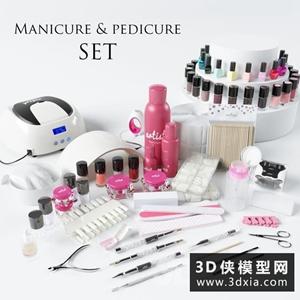 化妆品模型组合