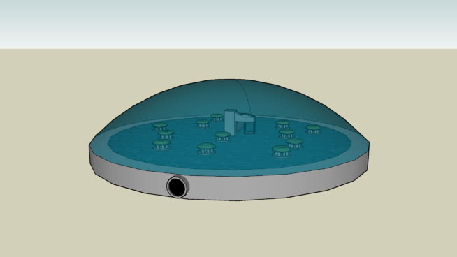 3的星际农场结构3 澡盆 马桶座 挂钟 盆 浴缸
