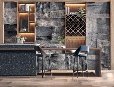 现代吧台吧椅组合3d模型