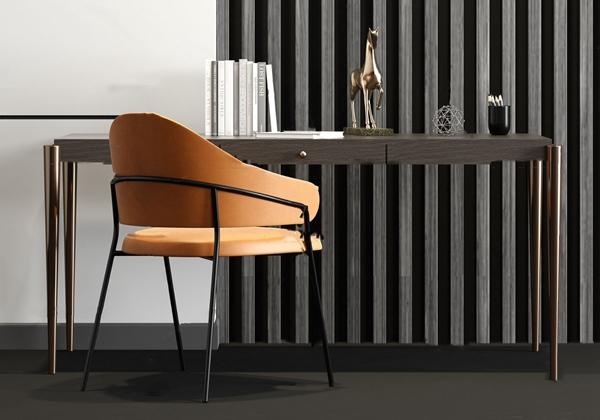 现代实木简易写字台书桌椅3d模型