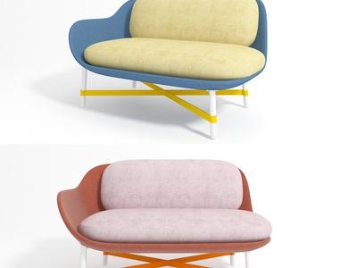 moroso现代双人沙发