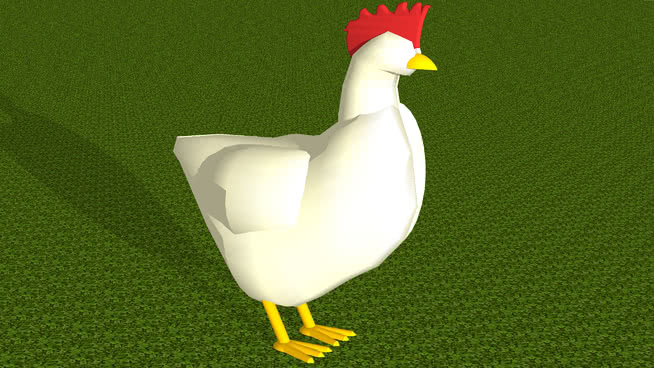 鸡!(三维) 鸟 动物 鹅 高尔夫球 热气球