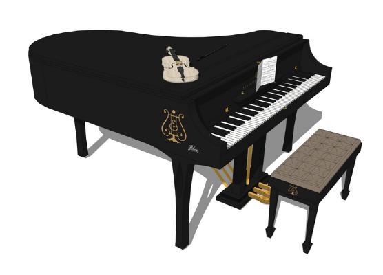 鋼琴SU模型