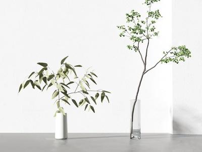 现代花瓶插花3d模型