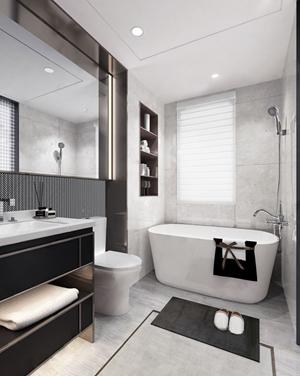 深圳市零次方空间设计 现代洗手间 现代卫浴 浴缸 台盆 卫浴柜 马桶 淋浴 零次方空间设计