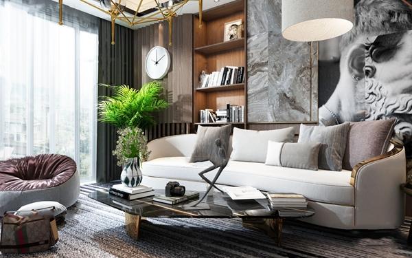 后现代轻奢沙发组合3d模型