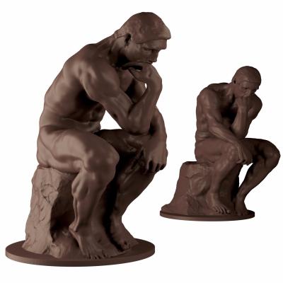 欧式思考者雕像3D模型