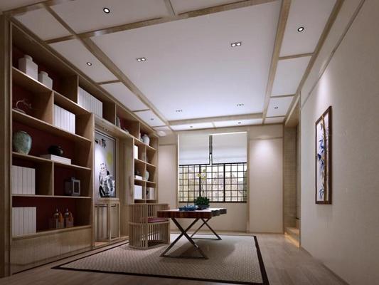 日式書房 日式書房 書桌椅 書柜