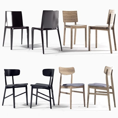 现代餐桌单椅组合 现代单椅 单椅组合 休闲椅