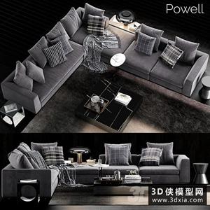 现代转角沙发组合