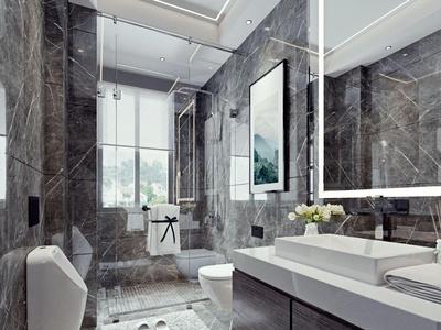 现代卫生间 浴室