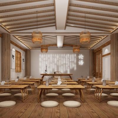 新中式国学教室3D模型