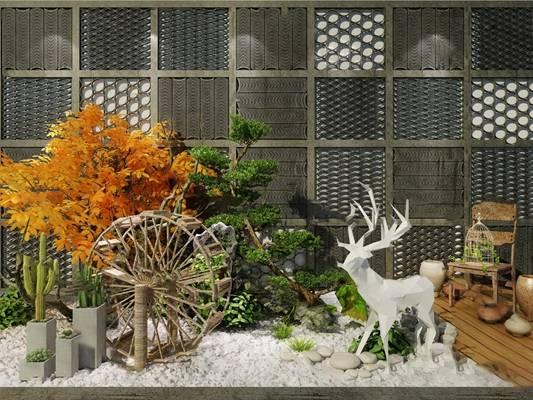 中式景观小品3D模型