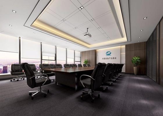 现代会议室 现代会议室 会议桌 办公椅