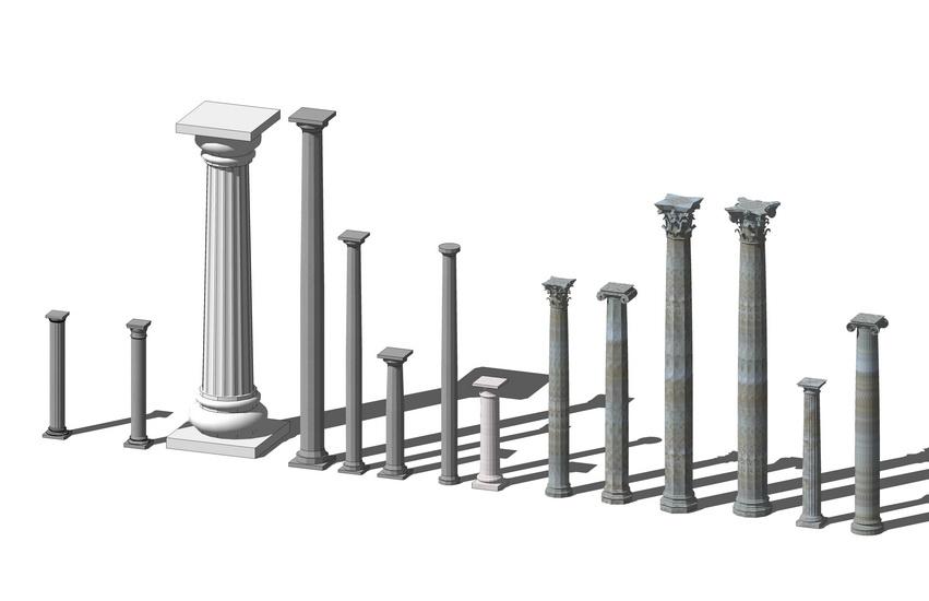 圆柱组合SU模型