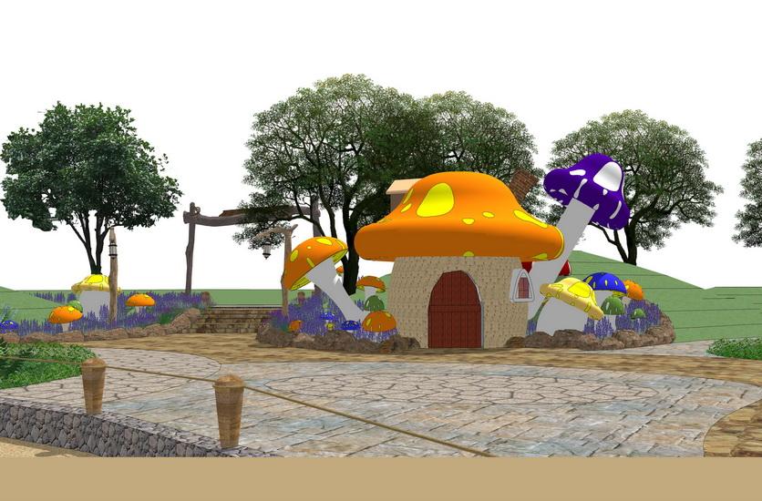 儿童乐园SU模型