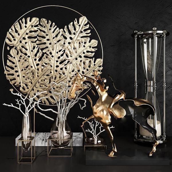 现代金属饰品组合