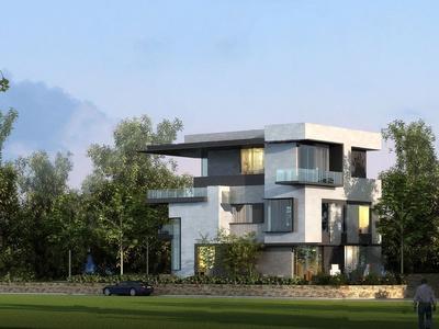 现代独栋别墅外观3d模型