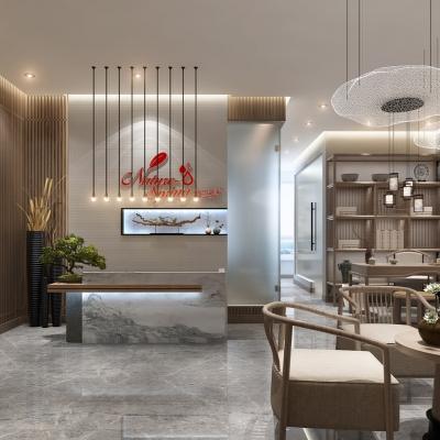 新中式轻奢美容院3d模型