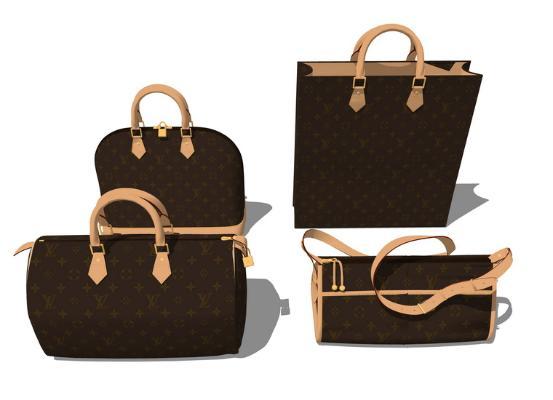 手提包组合SU模型