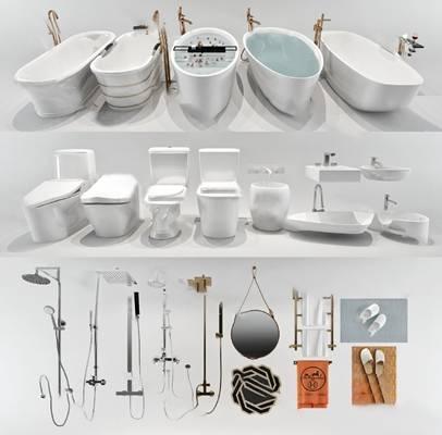 现代马桶3D模型