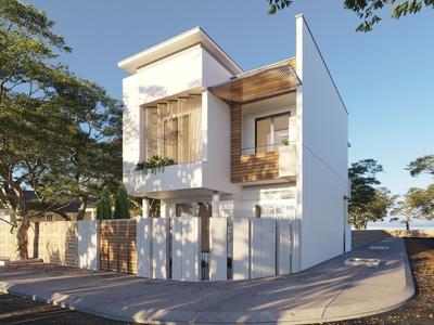 现代流行室外别墅景观国外3D模型下载